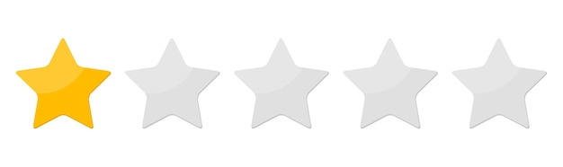 One star rank isolated on white