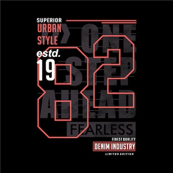 One step ahead graphic typography t shirt design slogan casual style wall murals