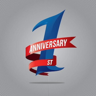 1周年記念ロゴタイプ。 1周年ロゴ