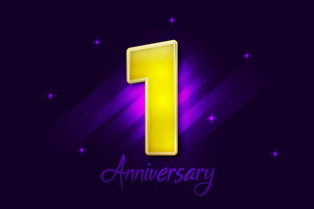 One year anniversary celebrations background design