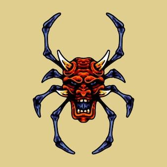 오니와 거미 다리 일러스트 캐릭터