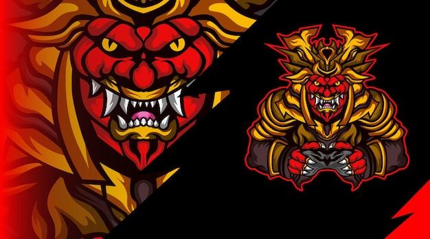 Oni army mascot logo