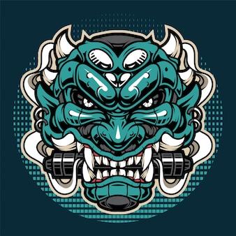Oni head esport mascot logo design