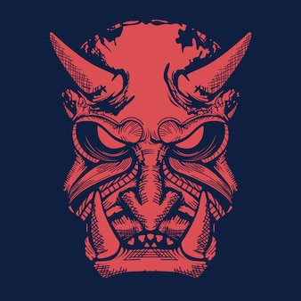 Oni japanese mask