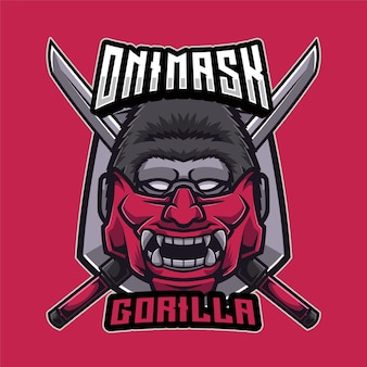 Oni mask gorilla 로고