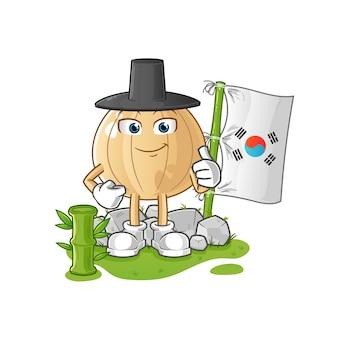 Лук корейский мультипликационный персонаж