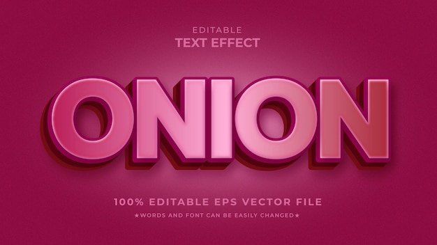 Onion text effect style eps template
