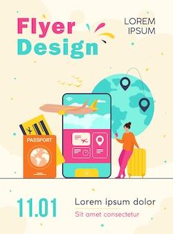 Online app for tourism flyer template