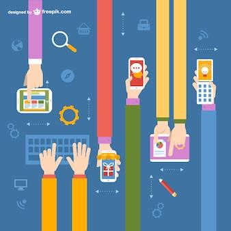 Online application vector