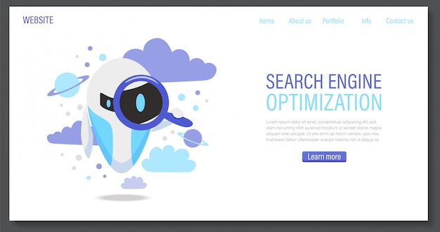 Online assistant bot landing page template. technical support design or virtual help website.