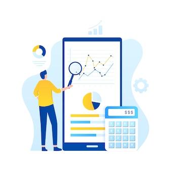 Online audit illustration concept.