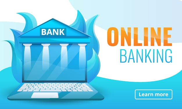 オンライン銀行のコンセプトデザイン