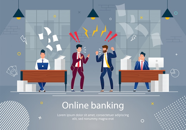 Online banking concept vector illustration.