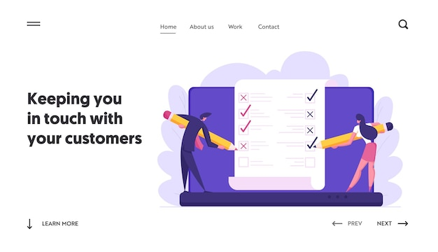 Online banking electronic bill concept landing page set