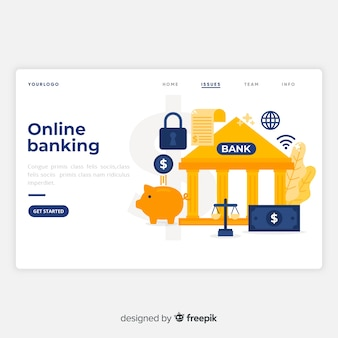 Целевая страница онлайн-банкинга