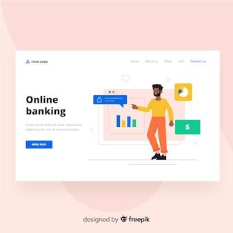 Online banking landing page