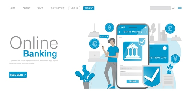 Online banking and mobile payment vector eps 10