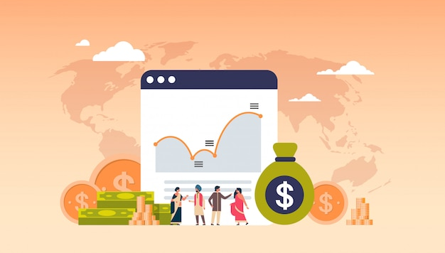Online banking money graph growth wealth banner