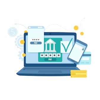 Online banking and transaction for business concept. payment technology.