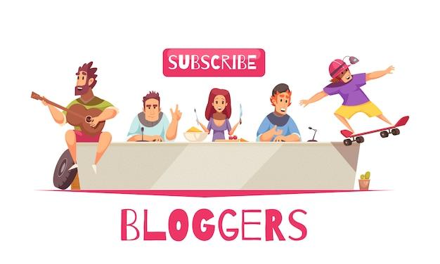 Online bloggers community background