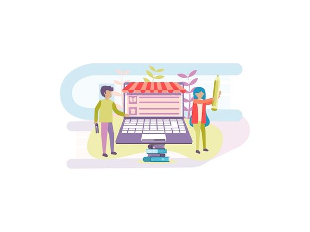 Online book store background design