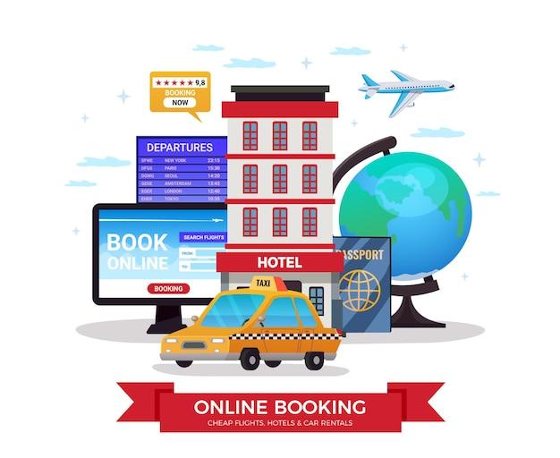 Illustrazione di prenotazione online