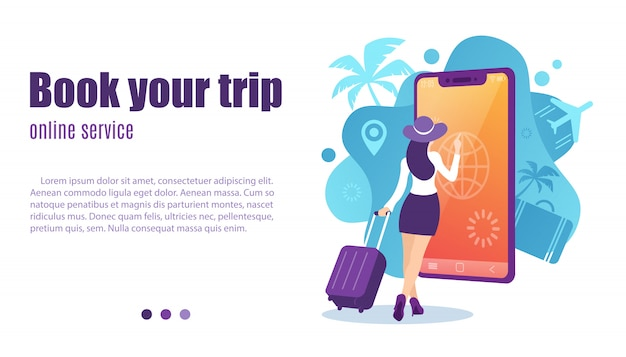 Online booking service vector illustration