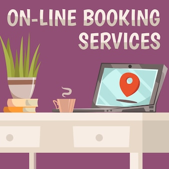 Online booking services composition