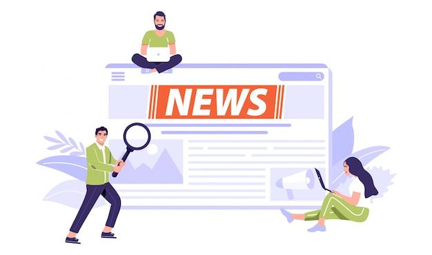 Online breaking news concept.