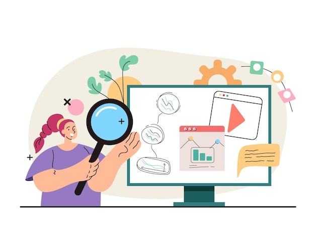Online business analytics searching