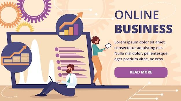 Online business banner. internet technologies.