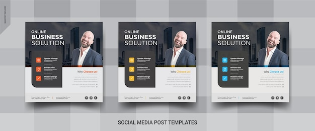 온라인 비즈니스 인스 타 그램 소셜 미디어 게시물 템플릿