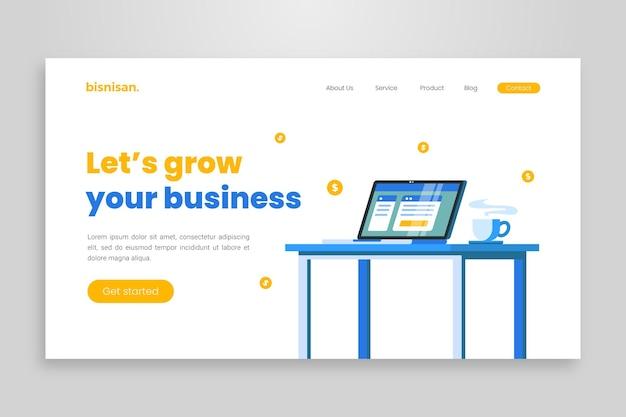 Шаблон целевой страницы онлайн-бизнеса