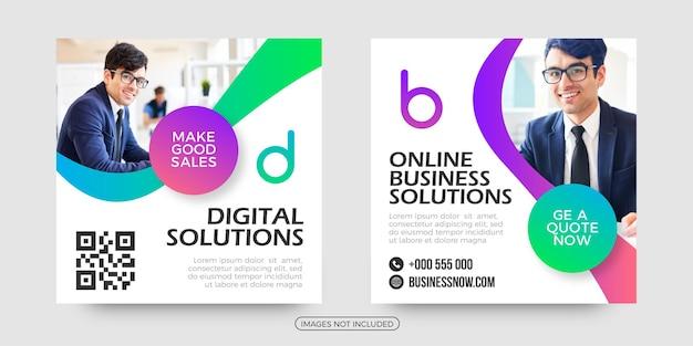 Online business social media post templates