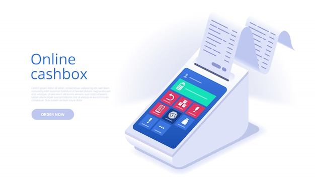 Online cashbox landing page template