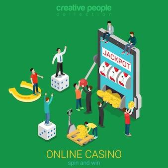 オンラインカジノフラットdアイソメトリック運成功ギャンブルの概念