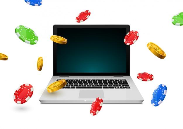 Online casino poker backgorund laptop gambling