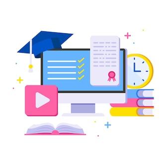 Online certification concept