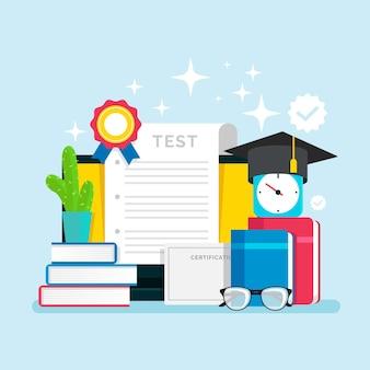 Online certification illustration theme