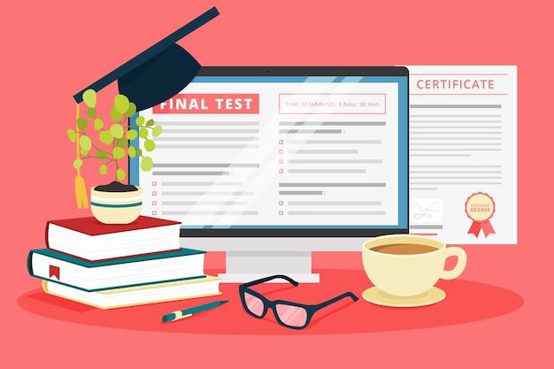 Online certification illustration