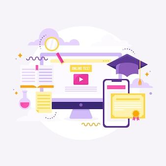 Иллюстрация онлайн-сертификации