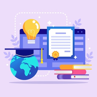 Online certification with books