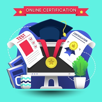 Online certification with diploma
