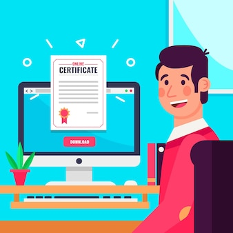 Online certification with student