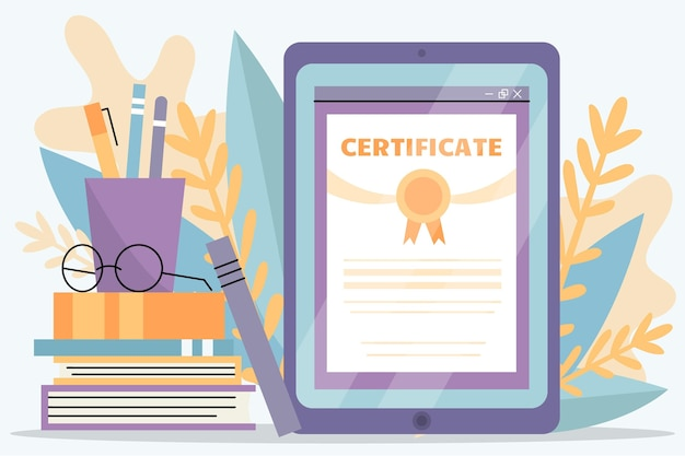 Online certification with tablet