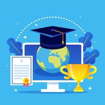 Онлайн сертификация с трофеем