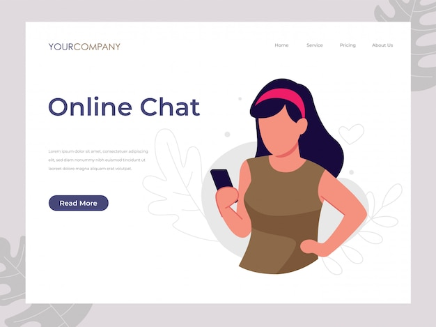 Online chat woman texting,