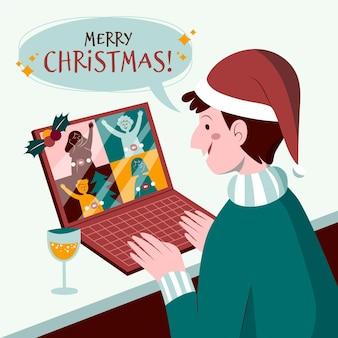 Празднование рождества онлайн