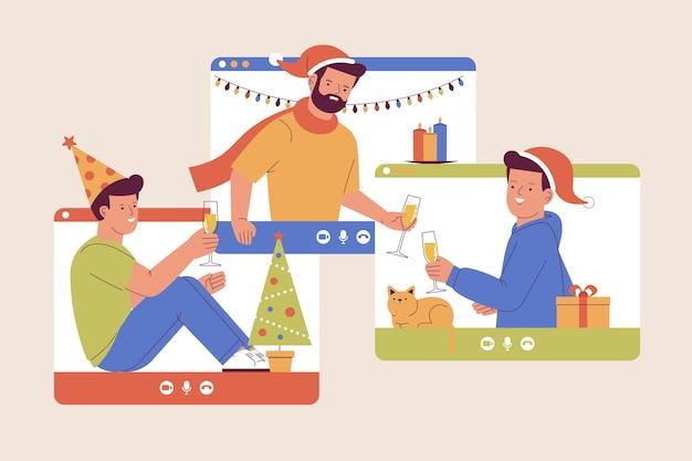 オンラインクリスマスのお祝い
