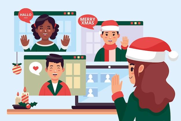 Online christmas celebration